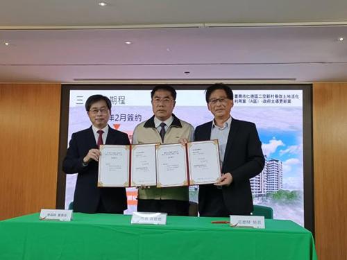 台南市長黃偉哲:二空新村都更正式簽約