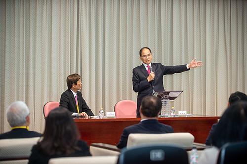 立法院長游錫堃接見日本台灣商會聯合總會返國致敬團