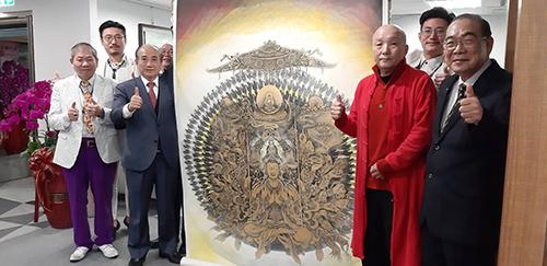 王金平院長和與會大眾和影(廖湘寧畫家提供)