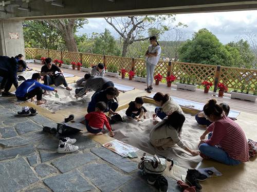 卑南公園學習教室考古沙坑發掘區
