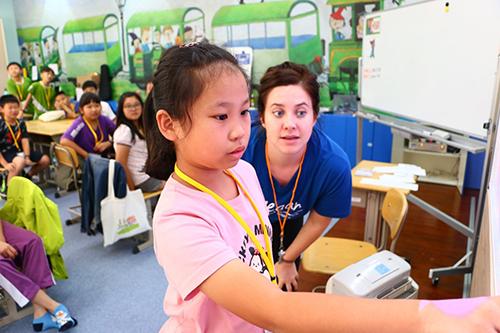 外師課程示意圖(非華美國際學校教學照片)