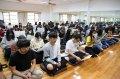 沉澱靜坐 南華大學師生祈願祝禱疫情消退