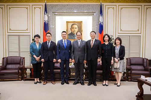 立法院長接見新加坡駐台北商務辦事處新任商務代表