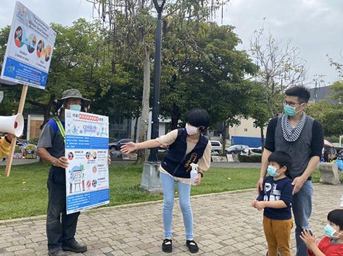 防疫再升級!台中市建設局7公園走動式宣導