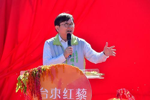 立委劉櫂豪爭取補助太麻里農會 促台灣藜產業升級