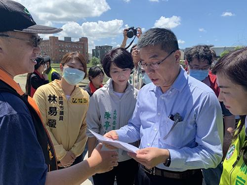 內政部部長視察台南滯洪池擴建工程(一)