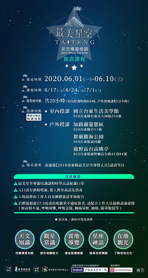 台東縣政府再推「最美星空導遊培訓」!課程全免費