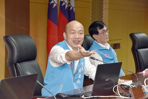 高雄市長韓國瑜盼高雄充滿希望和諧