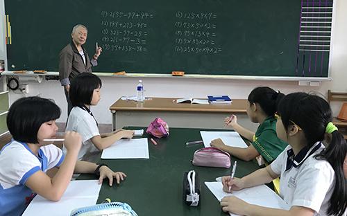 李煥昭老師進行學習弱勢扶助教學