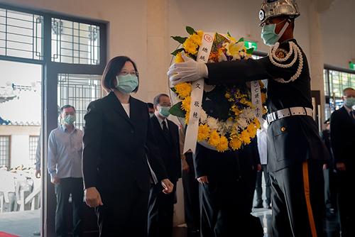 總統蔡英文出席八二三戰役追思祭悼活動