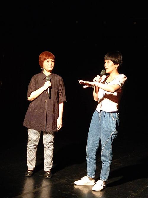 舞蹈空間藝術總監平珩(左)
