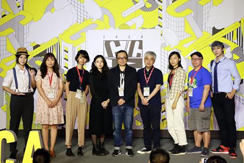 文化部第11屆金漫獎入圍者合影(左2起:LONLON、雷、小峱峱、阮光民、常勝、NIN、張放之)