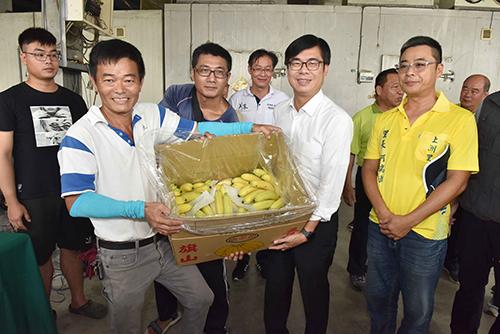 訪視旗山蕉農 高雄市長陳其邁:加碼農作物保險