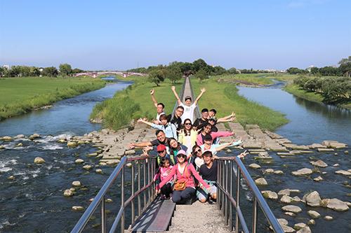 學員開心走訪安農溪分洪堰