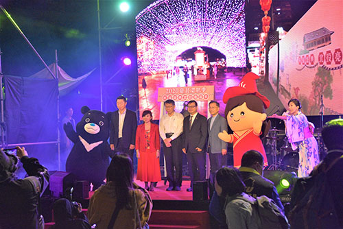 2020台北溫泉季啟動儀式,台北市長柯文哲特別力挺出席,一起敲響祈福鐘(攝-茱茱)