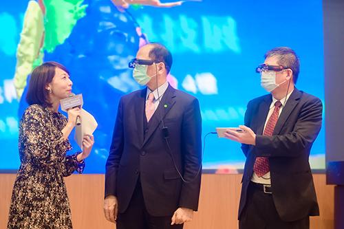 立法院長游錫堃出席「台灣醫療科技展」啟動大會記者會