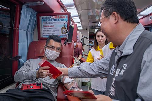 台彩2020歡喜逗陣來捐血活動,鼓勵捐熱血送彩券