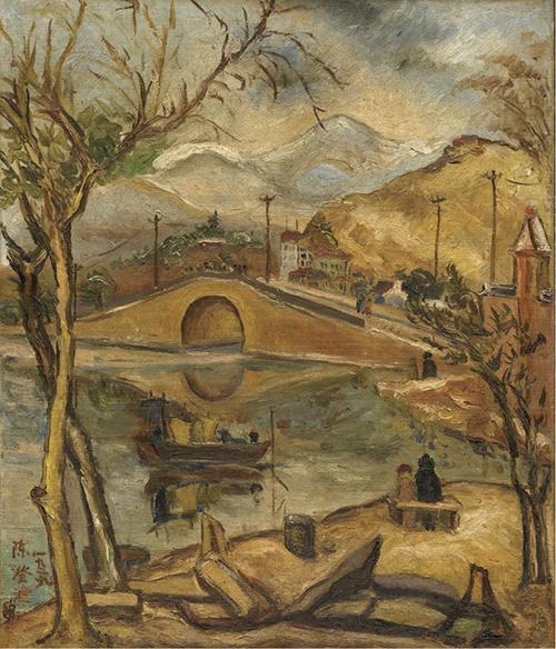 陳澄波〈西湖斷橋殘雪〉1929油彩、畫布72.5×60.5_CM,私人收藏