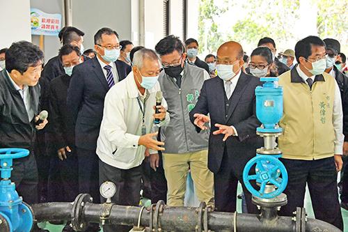 行政院長蘇貞昌出席「自來水員工訓練園區」竣工典禮