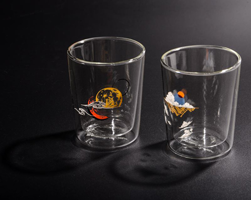 酒杯(右)「澄秋」與(左)「沐月」