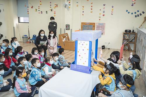 總統蔡英文訪視「國防部大直非營利幼兒園」
