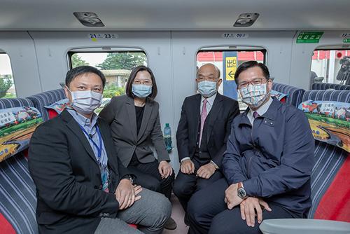 總統蔡英文出席南迴鐵路電氣化通車典禮:讓更多人親近東台灣