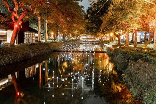 夜訪護城河看浪漫螢火蟲燈、煙火花 25日晚還有東門城聖誕音樂會