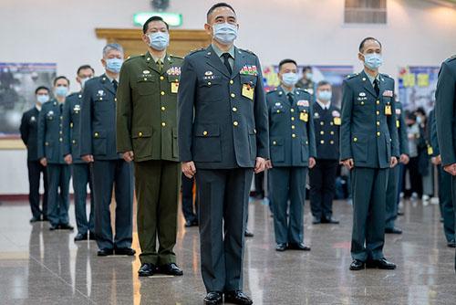 總統蔡英文出席110年上半年陸海空軍將官晉任布達暨授階典禮