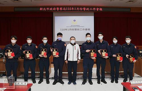 新北警政工作會報表揚8員警 侯期勉新局長照顧基層