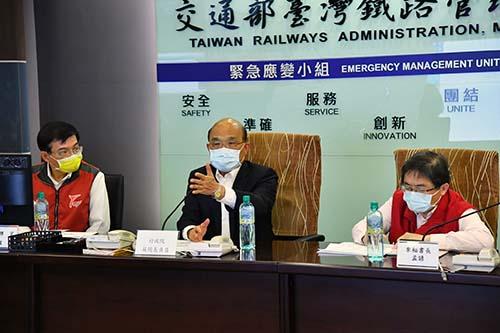 關切太魯閣號事故救災進度 蘇揆指示各部會做好善後工作