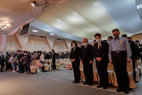 總統蔡英文出席太魯閣號事故聯合追思公祭